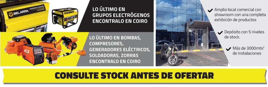 Consulte stock antes de ofertar
